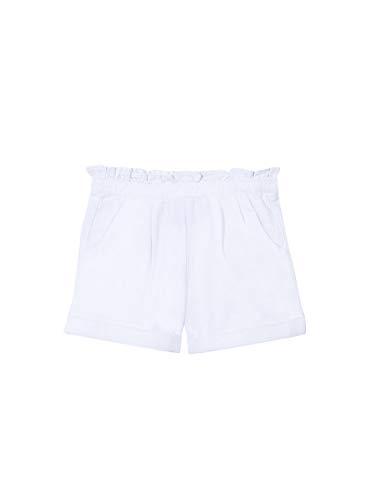"Gocco Pantalã""n Corto Pinzas Pantalones, Blanco, 11-12 años para Niñas"