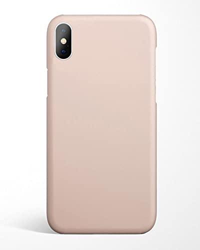 flapgrip® Silikon Handyhülle flapcase   Schutzhülle für iPhone X/XS   Handy Hülle Kratz- und stoßfest   Hochwertige Handy-Hülle aus Höhle der Löwen   Mikrofaser Futter (Sandrosa)