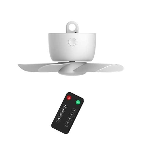 JONJUMP 8000 mAh USB recargable Control remoto sincronización 4 engranajes ventilador de techo ventilador de refrigeración colgante para tienda de campaña cama camping al aire libre casa
