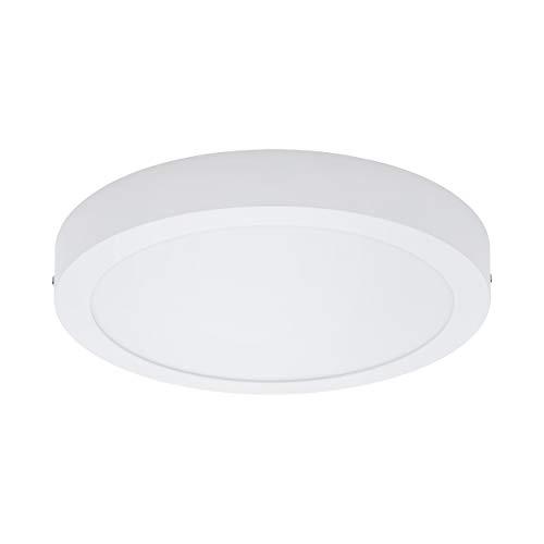 EGLO LED Deckenleuchte Fueva 1, 1 flammige Deckenlampe, Material: Metallguss, Kunststoff, Farbe: Weiß, Ø: 30 cm, warmweiß