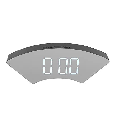 Crisist Despertadores eléctricos LED, Reloj de Pantalla Grande para Dormitorio, Oficina, hogar y Escuela(Blanco, Tipo de Torre Inclinada de Pisa)