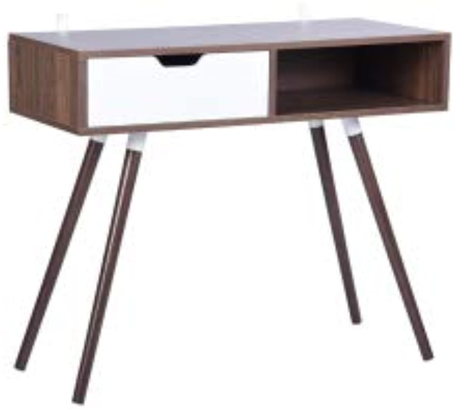 Gimify Computer Desk Scandinave with Drawer, 35.4x15.7x29.5 inches