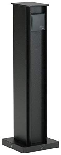 Albert Leuchten 66210 Steckdosensäule, schwarz, 2x Steckdosen - 662105