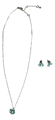 Kate Spade Into the Bloom Studs and Mini Pendant Set in Blue