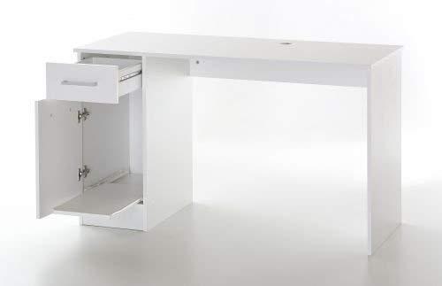 WILMES Nähmaschinentisch, Holzwerkstoff, weiß dekor, 120 x 50 x 72 cm