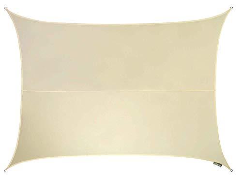 Kookaburra–Toldo impermeable de tejido, forma triangular, color marfil