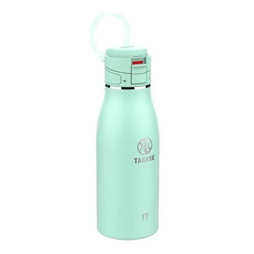 Takeya Traveler Insulated Travel Mug w/ Leak Proof Lid, 17 oz, Aqua