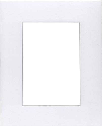 Pack of 5 18x24 White Mats with White Core Bevel Cut for 12x18 Pictures