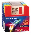 Fujifilm 3.5in. High Density Floppy Disk - IBM Formatted (25-Pack, Assorted Colors) (Discontinued by Manufacturer)