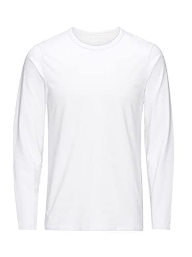 Jack & Jones Storm Sweat - Camiseta de manga larga con cuello redondo para hombre, Blanco (OPT WHITE), 52