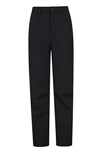 Mountain Warehouse Pantalon Softshell pour Homme - Résistant à l'Eau - Coupe-Vent et Respirant - Tissu reconstitué - Idéal pour Les Voyages, l'extérieur et la randonnée Noir Taille Hommes 58 EU