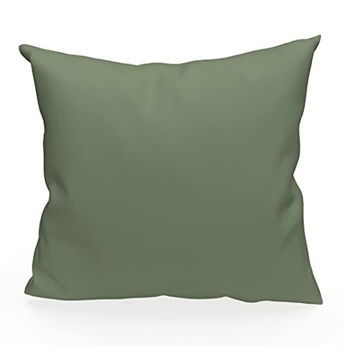 Soleil d'ocre Alix - Funda de cojín, poliéster, 40 x 40 cm, Color Verde