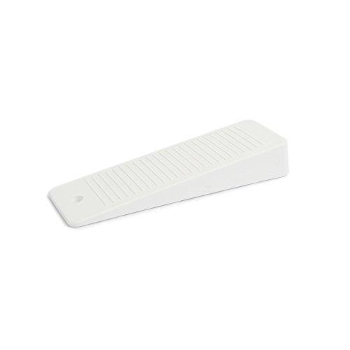10 x Cuña para puerta / Tope para puerta de goma dura | sossai® TSK95 | Color: blanco