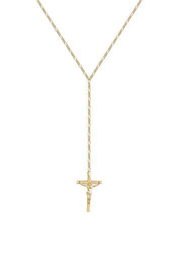 Elli Collares Mujer por @lleennyy Y Collar con Colgante de la Cruz Tendencia en Plata Esterlina 925