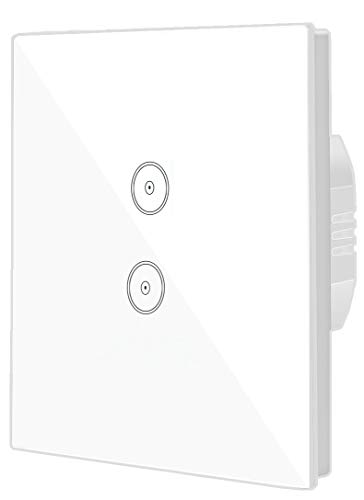 JinvooSmart Wireless Wifi Smart Wall Panel Compatiable mit Alexa echo Oder Arbeitet mit Google Hause EU 2 gang