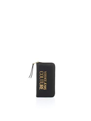 Versace Donna Portafoglio Logo Frontale Nero Mod. E3 VWAPL171879