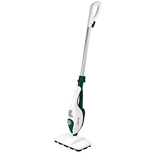 Polti Vaporetto SV240 Scopa Lavapavimenti a Vapore 2 in 1, Pulitore Portatile, Extra Dotazione Panni, con 14 Accessori, Capacità serbatoio 0.32 L, 1300 W, Bianco/Verde