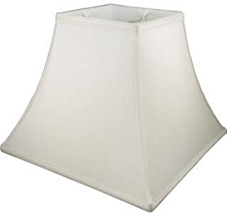 Upgradelights Ivory Silk 12 Inch Square Bell Lampshade 6x12x10.25