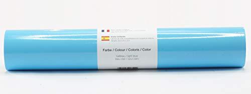 Pellicola autoadesiva per plotter pellicola vinilica 21 cm x 3 m lucido 39 colori a scelta tra cui scegliere, Glänzend L-Serie:Hellblau