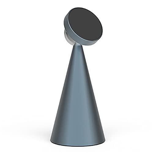 LINMAN Soporte de 360 Grados de rotación de Metal para teléfono magnético, Compatible con iPhone 12 11 Pro MAX Mini Magsafe Holder Soporte de Escritorio Soporte (Color : Gris)