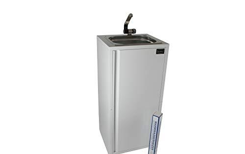 Mobiles Handwaschbecken Waschbecken Verkaufsstand + Heizstab Warmwasser bis ca. 36°C weiß (ad-ideen)