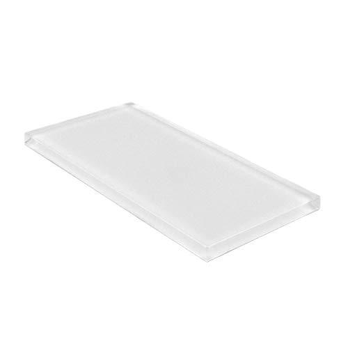 Giorbello Glass Subway Backsplash Tile, 3 x 6, Bright White, Sample Tile (1 Piece)