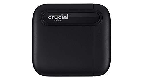 Crucial CT1000X6SSD9 X6 1To Portable SSD – Jusqu'à 540Mo/s – USB 3.2 – Lecteur d'état solide externe, USB-C