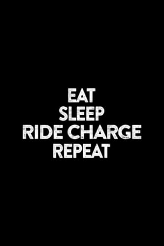 """Visitor Register - Eat Sleep Ride Charge Repeat Funny E-Bike Saying: Visitor Register Book for Business, Visitor Book For Signing In and Out, 6"""" x 9"""" ... sign in record book Series),Business"""