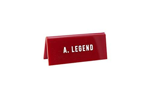 CGB Giftware Eureka A. Legend' Nieuwigheid Plezier plaat Plaque Bureau Teken Kantoor Gift | Gemaakt in het Verenigd Koninkrijk | GB05056