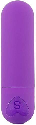 Dliso4 EIN □ l Hintern t □ y Vibration Lade Kugel A-v Springen E-g-g Tief Druck entspannen Geschenk: Wireless & Wasserdicht - USB-Lade - Mute (Pink) (Color : Dark Purple)