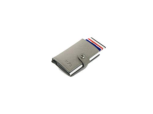 【ナックニック】スキミング防止カードケース クレジットカードケースウォレット ミニマル 6.5×1.5×9.8 NAC-NIC… (グレー)