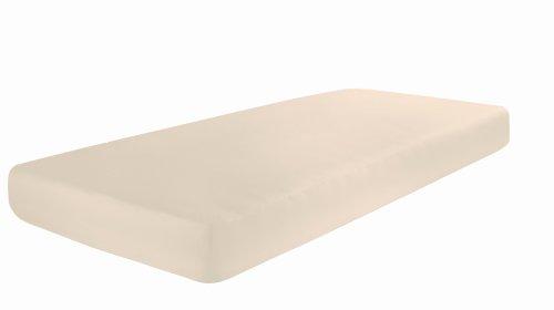 Dormisette Q371 Elastic-Jersey-Spannbetttuch mit Elasthan, Größe: 90 x 190-100 x 200-220 cm, leinen
