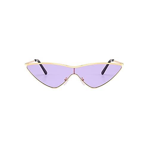 FDNFG Occhiali da Sole Abbigliamento Moda retrò Occhiali da Sole Gatto Occhiali da Sole Donne Oceano Casual colorato uv400 Occhiali da Sole in Lega cornici ottiche per Signore (Lenses Color : 04)