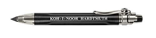Koh-i-Noor Mechanical Hardtmuth Lead Holder with 5.6mm x 80mm Lead, Black with Clip, 1 Each (5311CN1005PK)