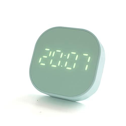 Aiong Reloj Despertador, Reloj Despertador pequeño, Luminoso, silencioso, LED, Reloj Digital, luz, Escritorio electrónico, Relojes de Mesa Digitales