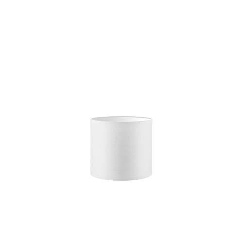 Lampenschirm rund | Bling | Geeignet Für Pendellampe Stehlampe Tischlampe Wandlampe Deckenlampen besteht aus Baumwolle Für E27 Fassung Durchmesser 20cm Höhe 17cm Rein Weiß Für alle Innenraumen