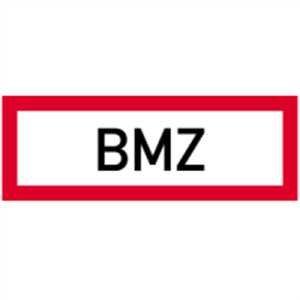 Schild BMZ gemäß DIN 4066 Aluminium 105 x 297 mm (Brandmeldezentrale, Brandschutz, Brandmeldeanlage) wetterfest