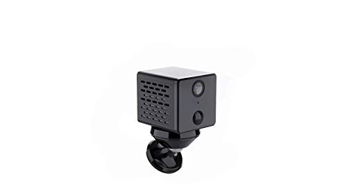 1080p HD Hidden Mini WiFi/Hotspot Audio IP Smart Camera with Audio 1500 mAh Battery Low Power Consumption Night Vision Motion Detection Body IR Radiation, High Performance Processor for Security