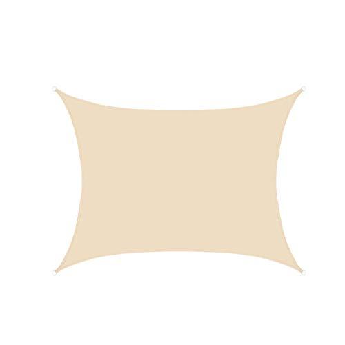 AZUOYI Toldo Vela de Sombra Rectangular 2x1.8m HDPE Transpirable protección UV para Patio, Exteriores, Jardín, Color Green Impermeable,C,2X1.8M