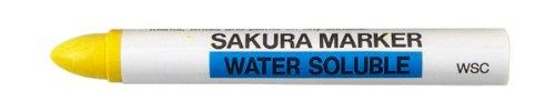 SAKURA - WSC-3 Sakura Industrial Water Soluble Crayon Marker, 5/8' Diameter x 5' Length, 14 to 122 Degrees F, Yellow (Box of 10)