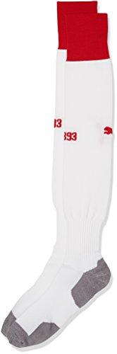 PUMA Erwachsene VfB Stuttgart Socks, White-Team Regal red, 5