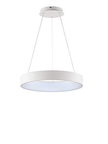 WOFI CAMERON - Lampadario a sospensione in plastica, 38 W, colore: Bianco