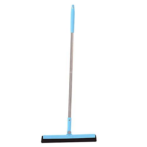 Abzieher für Wasser, Badezimmer, Dusche, Garage, mit langem Griff, staubfreies Glas Free Size blau