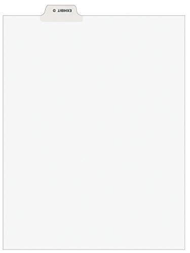 Avery 11943 Avery-Style Preprinted Legal Bottom Tab Divider, Exhibit D, Letter, White (Pack of 25)