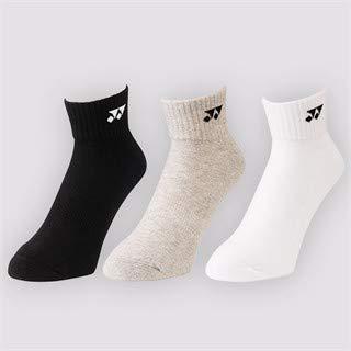 Yonex Socken (kurz) 19142, 3er Pack - weiß/grau/schwarz, 40-44