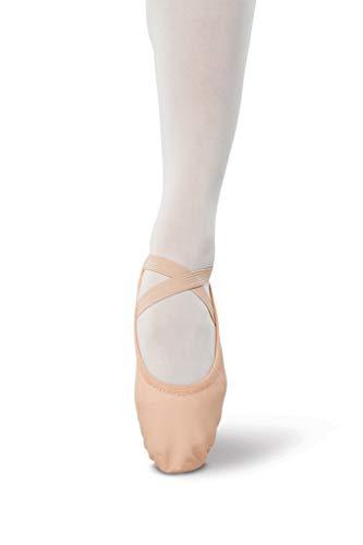 Danshuz Women's Stretch Split Sole Ballet Shoes, Pink Leather, Spandex, 10 M