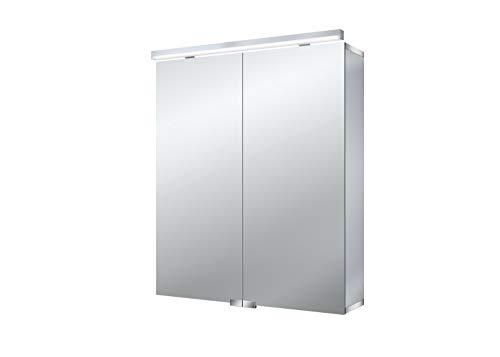 Emco asis Lichtspiegelschrank Pure 600mm, 2 Türen, LED neutral Weiß 4000k