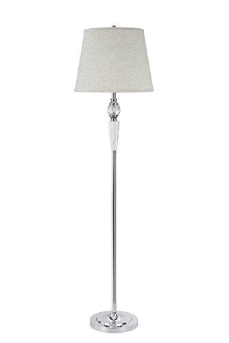 Aspen Creative 45003, lámpara de pie con acento de cristal de 1 luz, diseño de transición en cromo, 152 cm de alto
