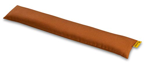 SANTERGO öko-ergonomische Handgelenkauflage für Tastatur mit Bio-Hirsespreu, Handballenauflage zur Vorbeugung von Sehnenscheidenentzündung, thermoregulierend aus natrülichem TENCEL Stoff (cognac)