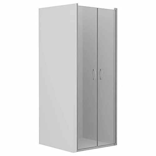 vidaXL Shower Doors Shower Enclosures Panels Hardware Bathtubs Cabin Screens Cubicle Bath Attachments Home Bathroom Bathing Cover Clear ESG